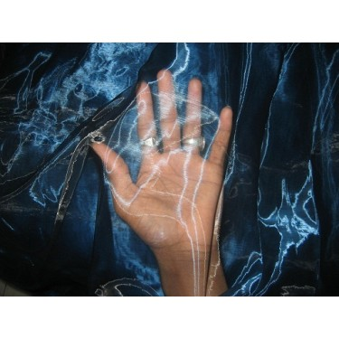 """POLYESTER BLUE ORGANZA FABRIC 110"""" WIDE"""