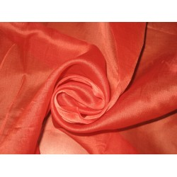 "TOMATO RED SILK ORGANZA FABRIC 44"" WIDE"