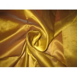 "GOLD WITH BLACK SHOT SILK ORGANZA FABRIC 54"" WIDE"