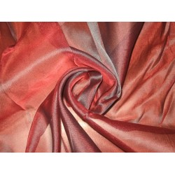"RED WITH BLACK SHOT SILK ORGANZA FABRIC 108"" WIDE"