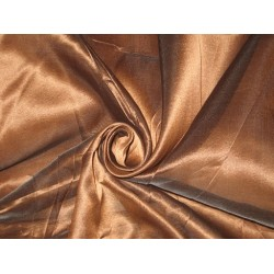 COFFEE BROWN SILK ORGANZA FABRIC