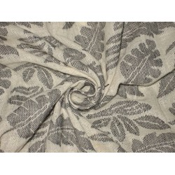 Printed Linen fabric Cream & Grey