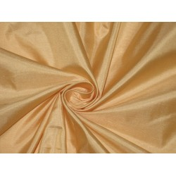 Mary Ann plain silk fabric Peachy Cream plain silk 44""
