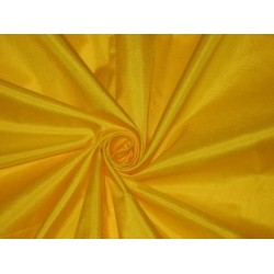 Mary Ann plain silk fabric Yellow silk 44""