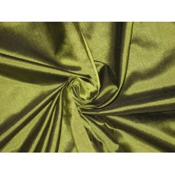 Mary Ann plain silk fabric Pistachio Green Shot silk 44""