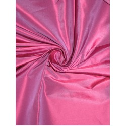 100% Pure SILK TAFFETA FABRIC Pink x Purple 2.18 yards continuous piece 54""