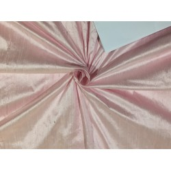 "100% pure silk dupioni fabric BABY PINK     54"" with slubs MM90[2]"