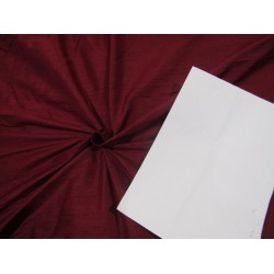 "100% Pure SILK Dupioni FABRIC burgundy color 54"" with slubs*MM75[6]"