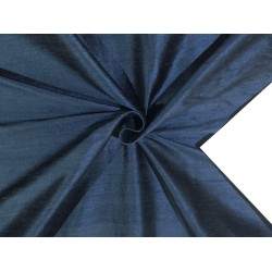 "100% Pure SILK Dupioni FABRIC MIDNIGHT BLUE  BLUE  color 54"" with slubs*MM91[1]"
