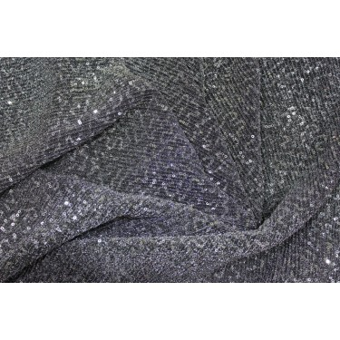 SILVER GREY Lycra  Net Fabric with   SEQUENCE  58'' Wide FF18[2]