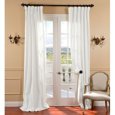 """Straight linen curtains a set of 2 53"""" wide and 90"""" long"""