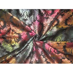 Heavy Silk Brocade Fabric Black shaded 44'' Bro569[1]