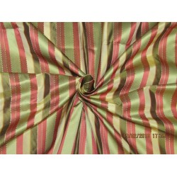 "silk taffeta dobby fabric 54"" wide multi color stripe taf#s146[3]"