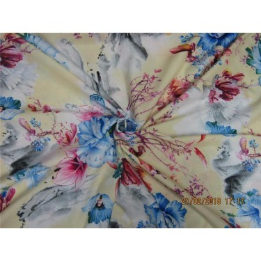 "Modal printed fabric 58"" wide-floral"