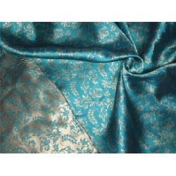 Reversable Brocade fabric green x gold 56'' BRO563[4]