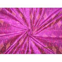 100% pure silk dupioni ikat fabric Aubergine color 44''​