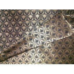 Reversible Brocade fabric black x gold 56'' BRO563[1]