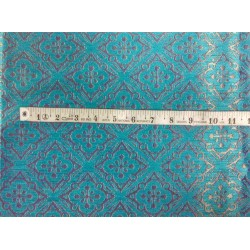 Reversible Brocade turquoise blue X metallic gold color 56'' BRO562[3]