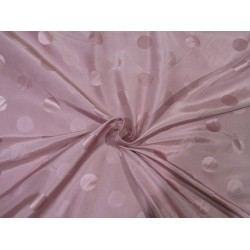 Silk taffeta jacquard fabric dusty rose pink  DAMASK TAFJ28b single length 4.35yards @ 199$
