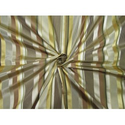 "Silk Tafeta Fabric Iridescent multi colour + satin stripe TAFS61 54"" wide sold by the yard"