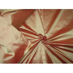 "100% PURE SILK TAFFETA red x gold deep salmon 24 momme TAF303[1] 54"" wide sold by the yard"