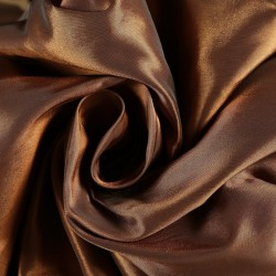 100% SILK TAFFETA FABRIC 54~orange x black=brick brown color TAF 19[1]