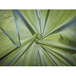 "100% PURE SILK TAFFETA yellow x blue=iridescent golden green 28  momme TAF303[5] 54"" wide sold by the yard"