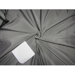 "100% PURE SILK TAFFETA BLACK X SILVER SHOT  54"" 35  momme TAF304[4]"