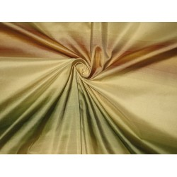 Silk Taffeta Fabric Brown,Green & Gold stripes 54 inches TAF S#20