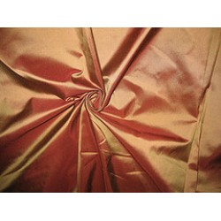 Pure SILK TAFFETA FABRIC Chocolate Brown with Gold Shot TAF60[2]