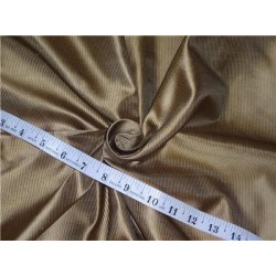100% SILK TAFFETA FABRIC PIN STRIPE 54''- gold