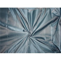 "SILK DUTCHESS CLOUDY BLUE X SILVER 60"" CUT PSC OF 4.75 YRDS"