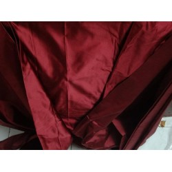 "SILK DUTCHESS WINE RED 60"" CUT PSC OF 8.35 YRDS"