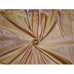 "LIGHT  WEIGHT SILK DUTCHESS YELLOW X PINK 60"" CUT PSC OF 4.60 YRDS"
