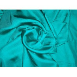 "100% SILK TWILL FABRIC 80 GRAMS 44"" INCH WIDE TEAL GREEN COLOR"