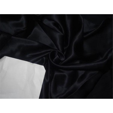 "100% PURE SILK SATIN FABRIC 44""BLACK NAVY BLUE COLOR 80 GRAMS"