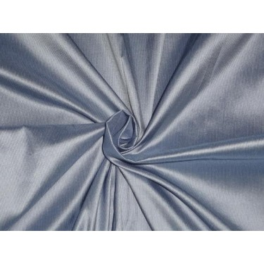 blue x ivory colour pin stripes~silk dupioni fabric~width 54""