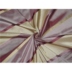 SILK TAFFETA FABRIC GOLD PINKISH LAVENDER & CREAM COLOUR 54