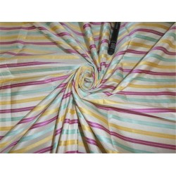 "SILK TAFFETA FABRIC MULTI COLOR 54"" WITH SATIN STRIPES"