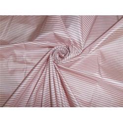 SILK TAFFETA FABRIC RED X WHITE STRIPES COLOR 48""
