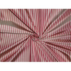 Silk Taffeta ~ Tan Wine 4 mm Stripe