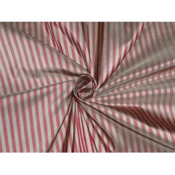 Silk Taffeta ~Dark Tan Wine 4 mm Stripe