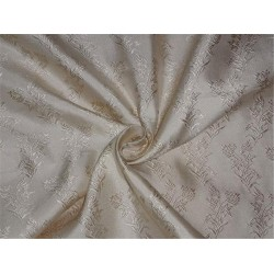 SILK TAFFETTA CREAM COLOR JACQUARD