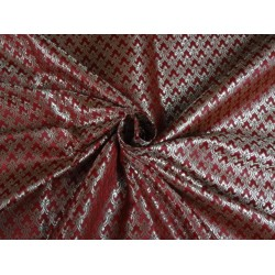 VISCOSE SILK BROCADE RED METALLIC GOLD