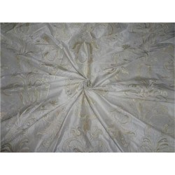 "SILK DUPIONI 54"" INCHES DUPIONI EMBROIDERY CREAM X iVORY"