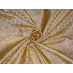 "SILK BROCADE 44""INCHES GOLD X GOLD"