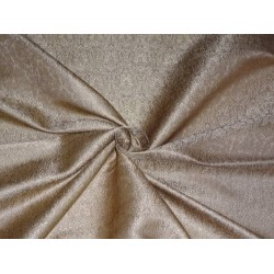 "SILK BROCADE 44""INCHES OLD GOLD X METALLIC GOLD"