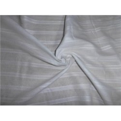 "WHITE COTTON VOILE 44"" WIDE - STRIPES  #2"