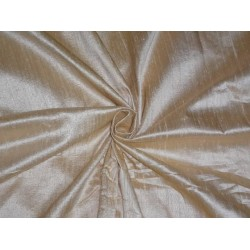 "CREAM x GOLD SILK DUPIONI 44""~WITH SLUBS sold by the yard"