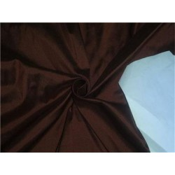 "100% PURE SILK DUPIONI FABRIC BURGUNDY BROWN 54"" WITH SLUBS*"
